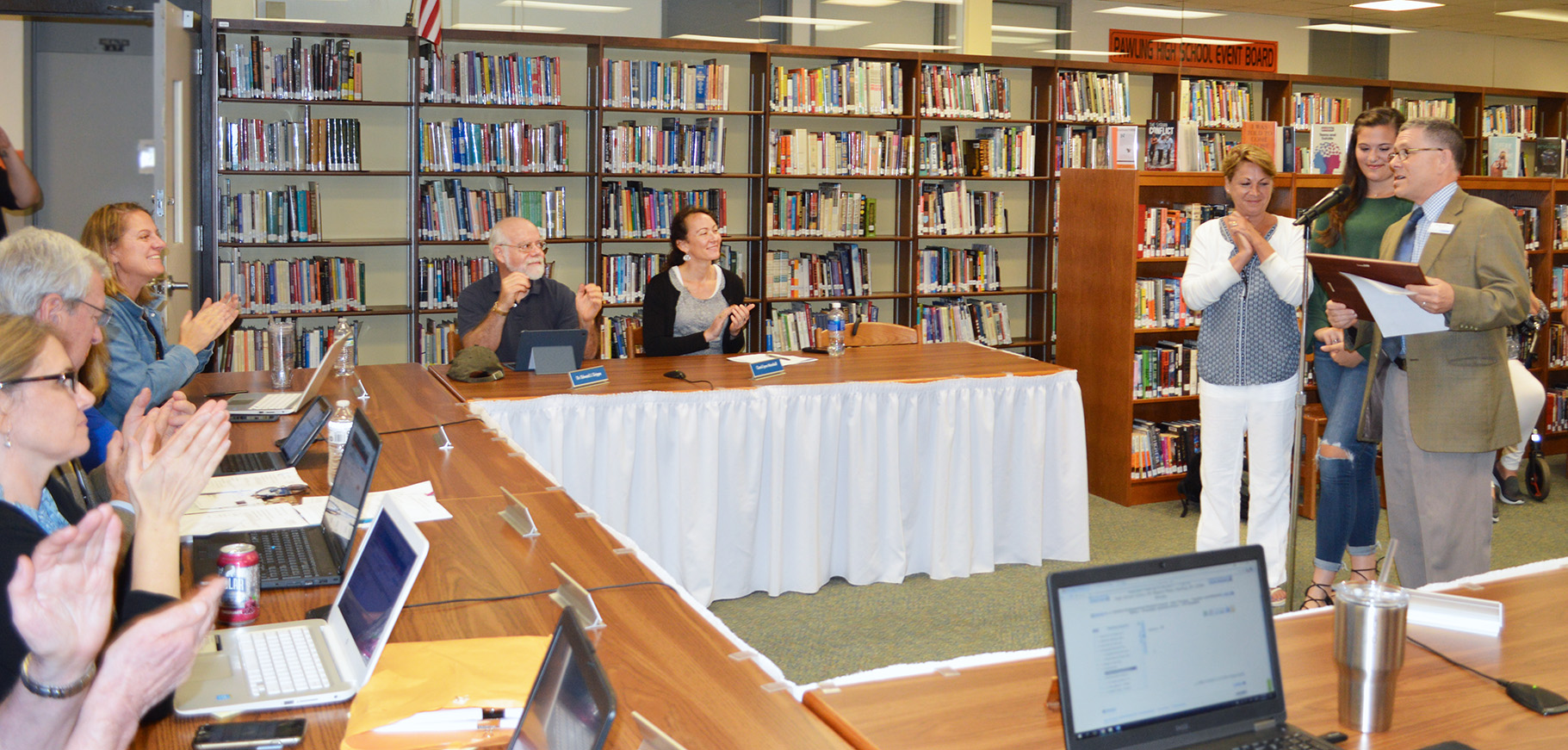 BOCES CTI Principal Mitchell Shron attended the Pawling Central School District's Board of Education meeting