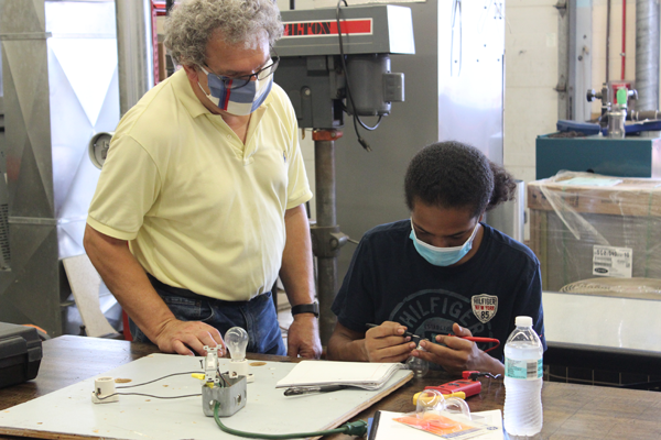[PIC] BOCES Adult Learning Institute Electricity Instructor Al Dimisko Works With A Student