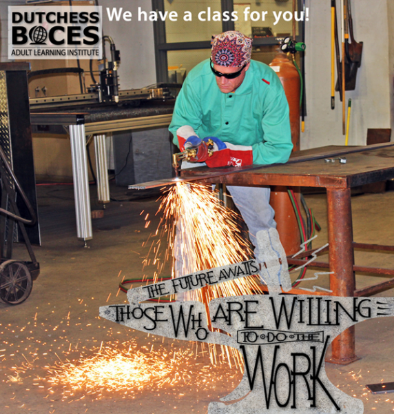 [PIC] Dutchess BOCES Adult Learning Institute Welding Student Working on a Project