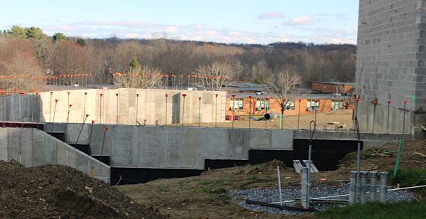 [PIC] Photo of One Concrete Foundation Footprint for One New Capital Project Campus Stucture
