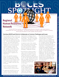 [Pic] Dutchess BOCES February 2017 Spotlight Newsletter cover