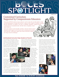 [PIC] Cover of Dutchess BOCES March Issue of Spotlight