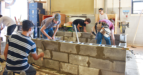 [PIC] CTI Construction Trades Students Build A Foundation For A Model Home