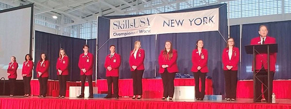 [PIC] Career & Technical Institute SkillsUSA Student Officers Onstage at State Competiton
