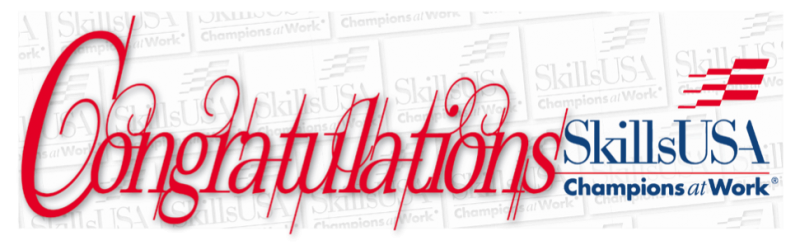 {PIC] Congratulations Banner Graphic for SkillsUSA Students