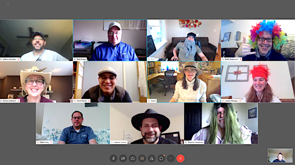[PIC] Screenshot of IT Leaders From Dutchess County School Districts Meeting Weekly Via Zoom.