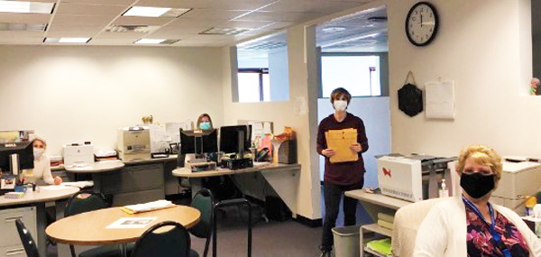 {PIC] Dutchess BOCES Payroll Staff In The Office Wearing Masks And Distancing