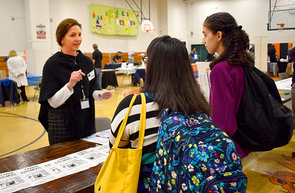 [PIC] School-to-Work Program Coordinator Jennifer Westerville Speaks With Students