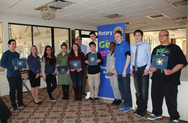 [PIC] Dutchess BOCES Students of the Month award-winners at Poughkeepsie-Arlington Rotary Club Luncheon