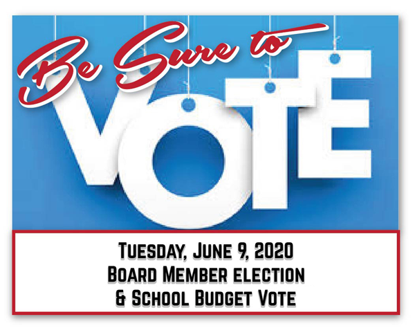 [PIC] Graphic Featuring School Budget Vote Request Tuesday, June 9, 2020