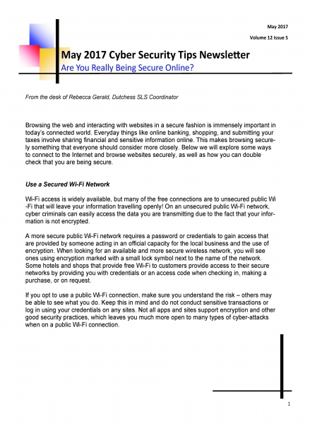 Monthly Information Security Newsletter