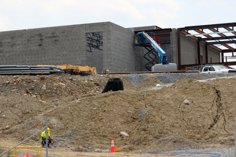 Work is progressing on the new building that will become the home of CTI and the Alternative High School.